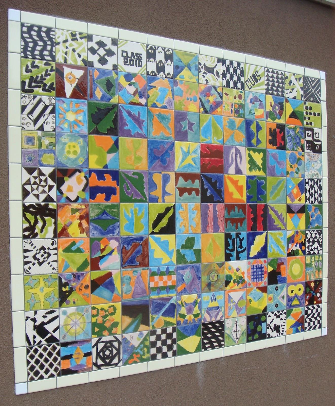Tile murals for Mural for school