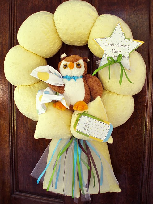 37. Custom Yellow Owl Wreath