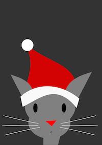 free Santa Cat: