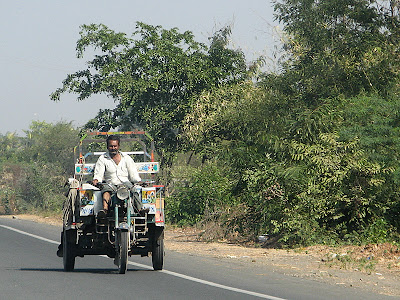 A chakada moving on the road