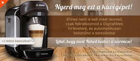 Nyerj egy Bosch kávéfőző gépet és hozzá két doboz kávékapszulát!