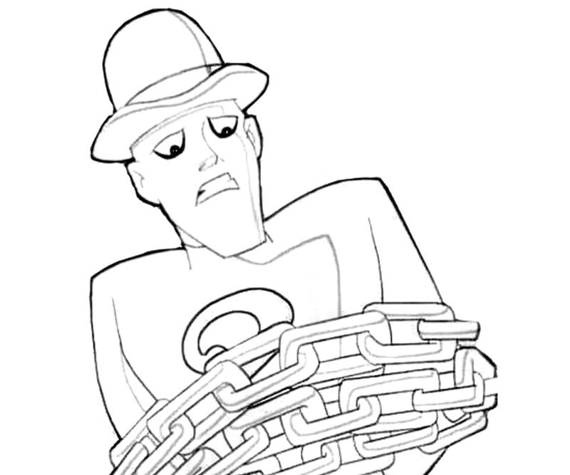 Riddler From Batman Coloring Pages