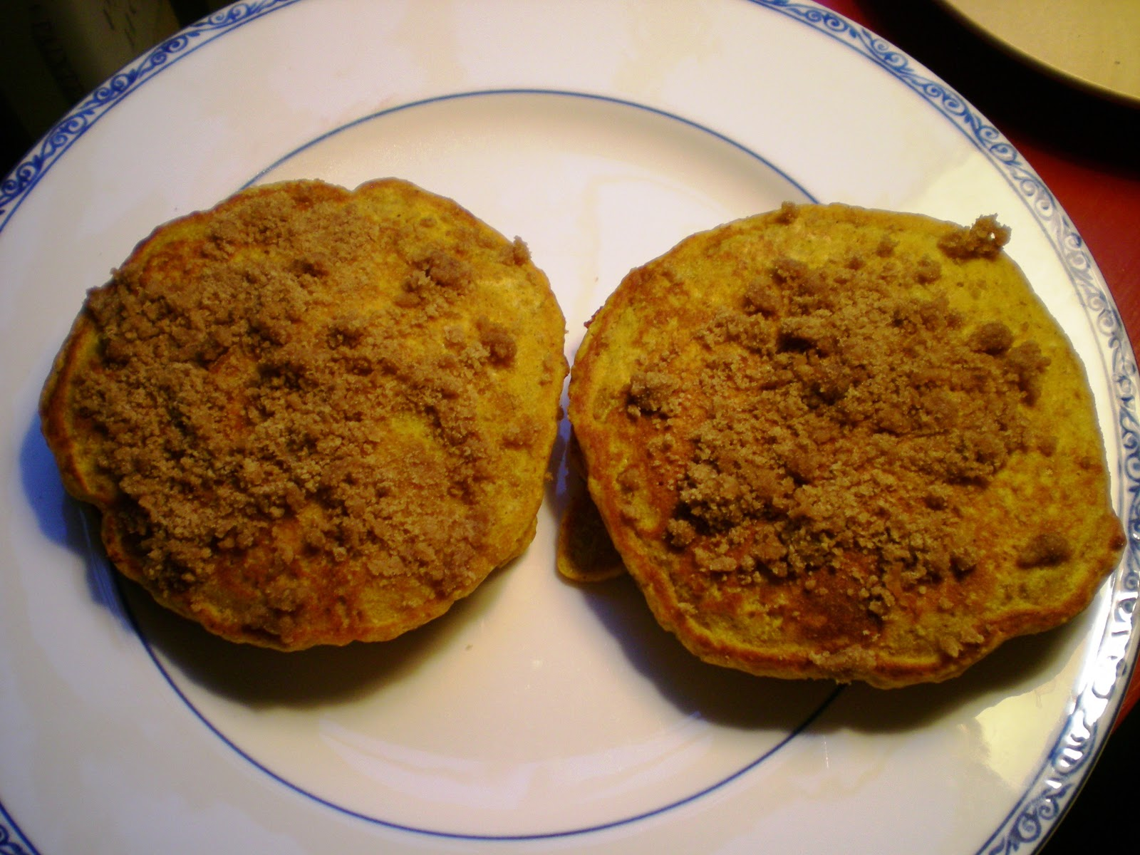 Pumpkin Pancakes with Cinnamon Streusel ~ From Anne's Kitchen
