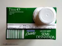 Sello de salubridad de la leche semidesnatada Milsani de Aldi.