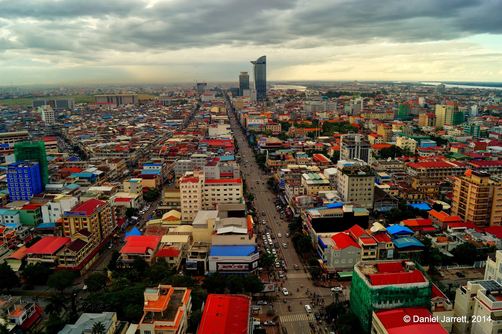 Phnom Penh from above