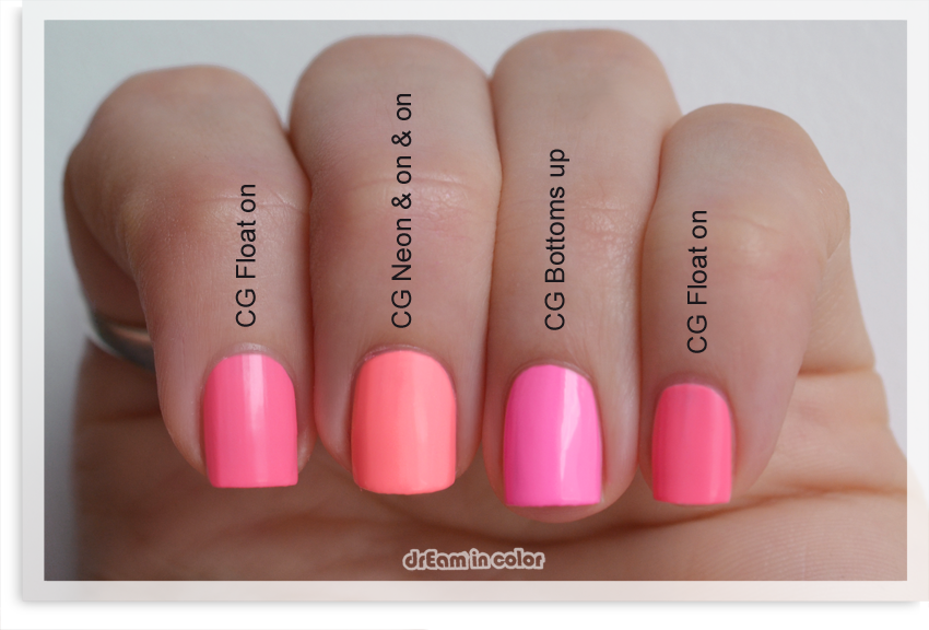 China Glaze Float on comparaison