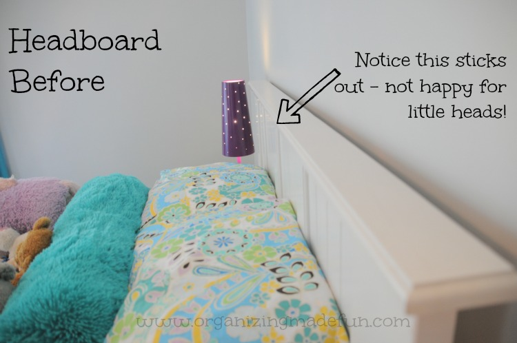 Big Girl Room Tutorial On A Headboard Update Organizing Made