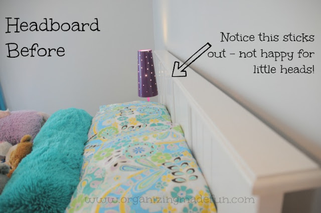 girl room tween headboard