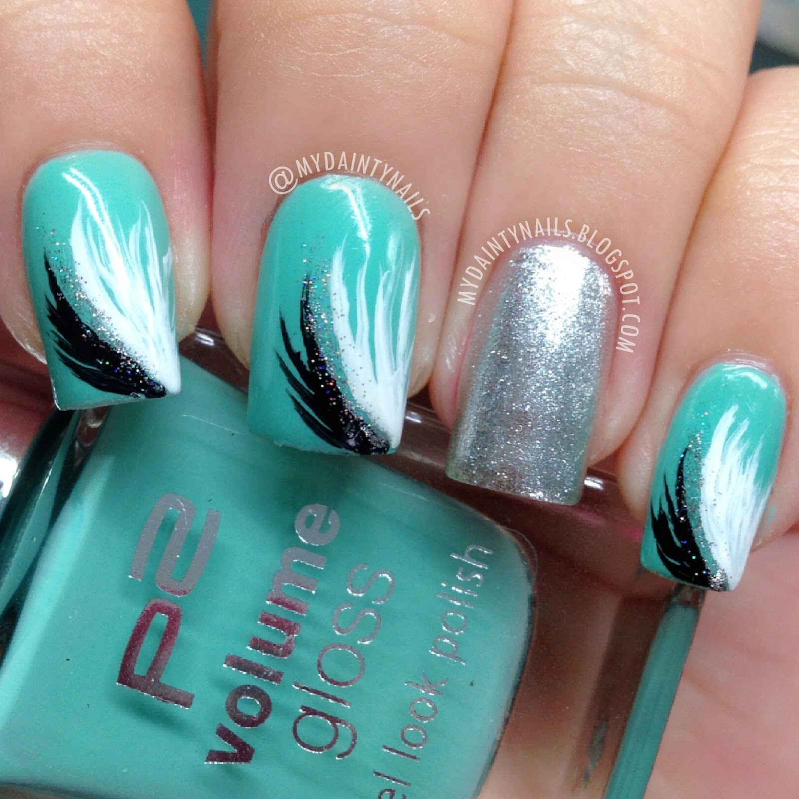My Dainty Nails: Feather nails