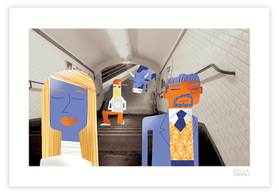 Alex Formika illustration métro RATP