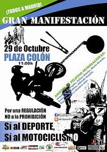 MANIFESTACION en defensa del MOTOCICLISMO DE MONTAÑA