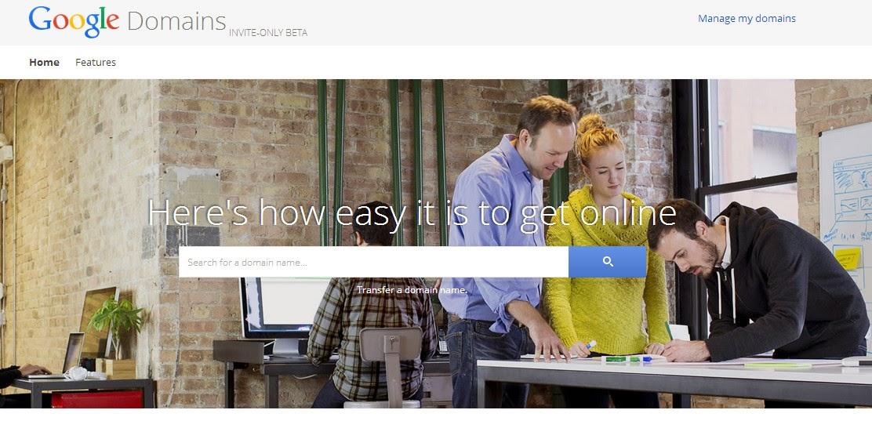 "Google Domains - גוגל עם שירות חדש לרישום דומיינים כרגע בטא בארה""ב"