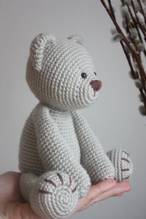 Free Teddy Bear Cowl Crochet Pattern : HAPPYAMIGURUMI: New Teddy Bear PDF Pattern