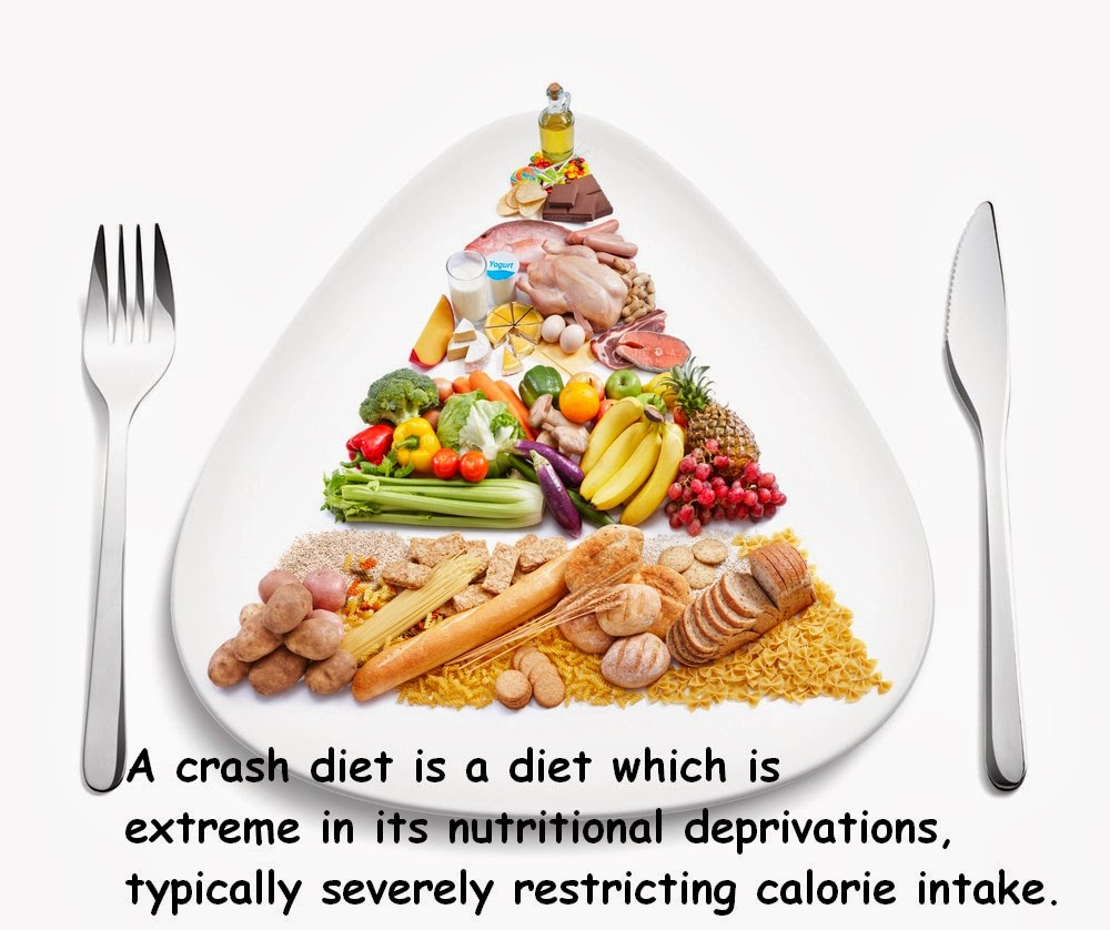 crash diet is a diet which is extreme in its nutritional ...