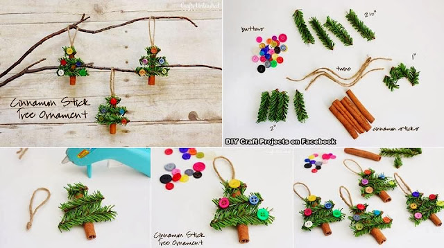 DIY Cinnamon Stick Tree Ornaments