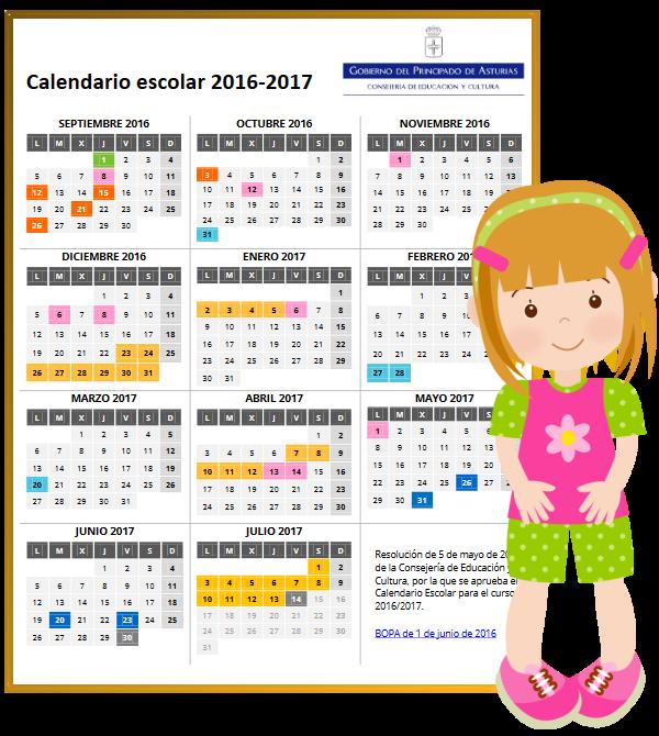 Calendario escolar 2016- 2017