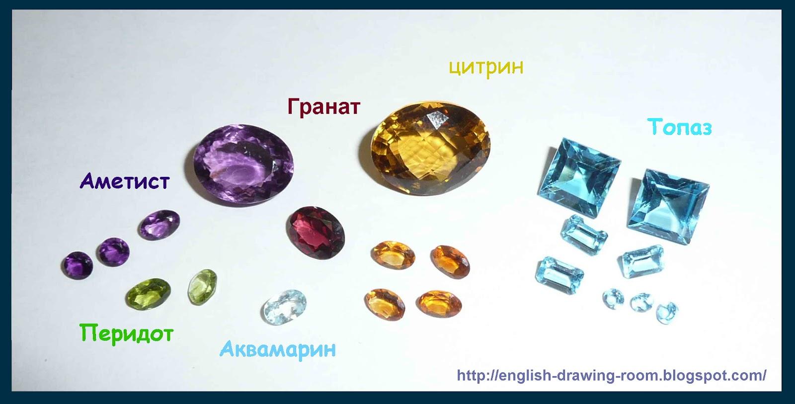 Драгоценные камни список с фото