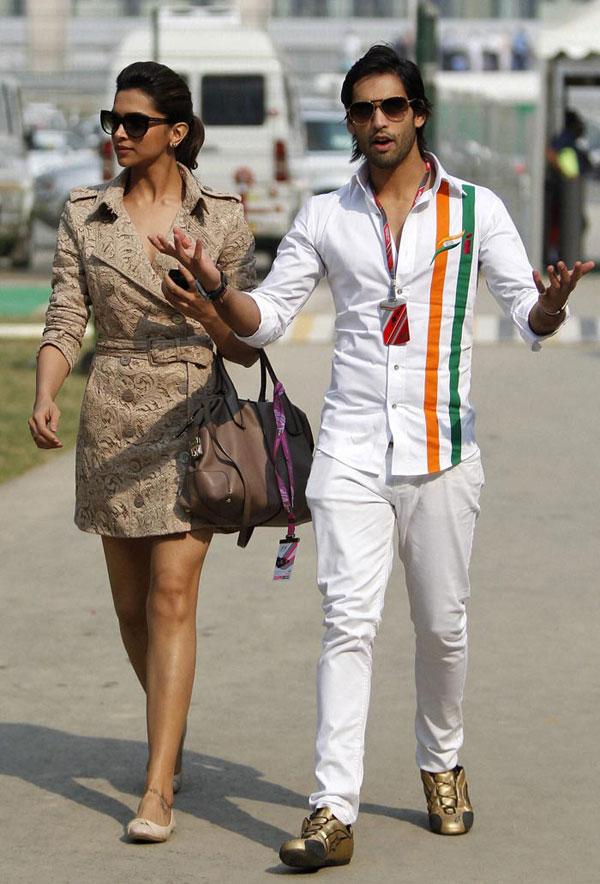 Latest Film News: Stars at Formula One Indian Grand Prix ...