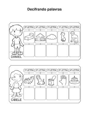 Atividades para Alfabetização - Decifrando Palavras 2