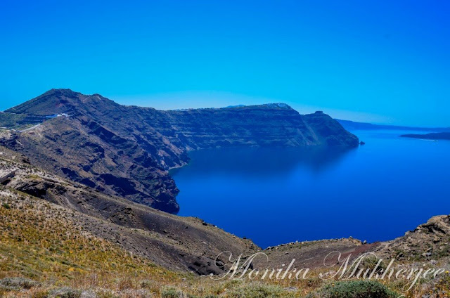 Hike from Fira to Oia Santorini Greece by Monika Mukherjee