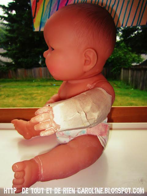 de tout et de rien activit s pour le pr scolaire diy plaster cast on a doll le papier m ch. Black Bedroom Furniture Sets. Home Design Ideas