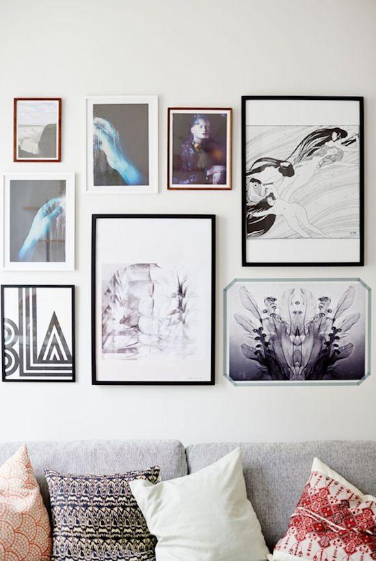 Lækre prints, plakater og moderne fotos på stuevæggen