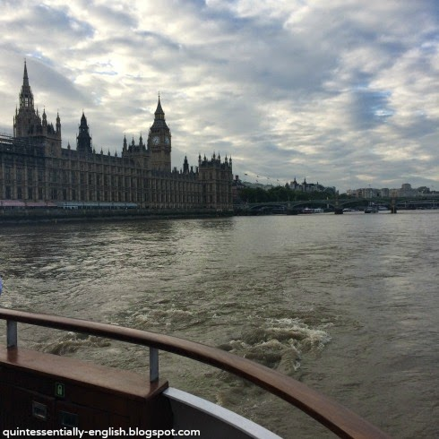 Big Ben and the Houses of Parliament from the River Thames - London, England