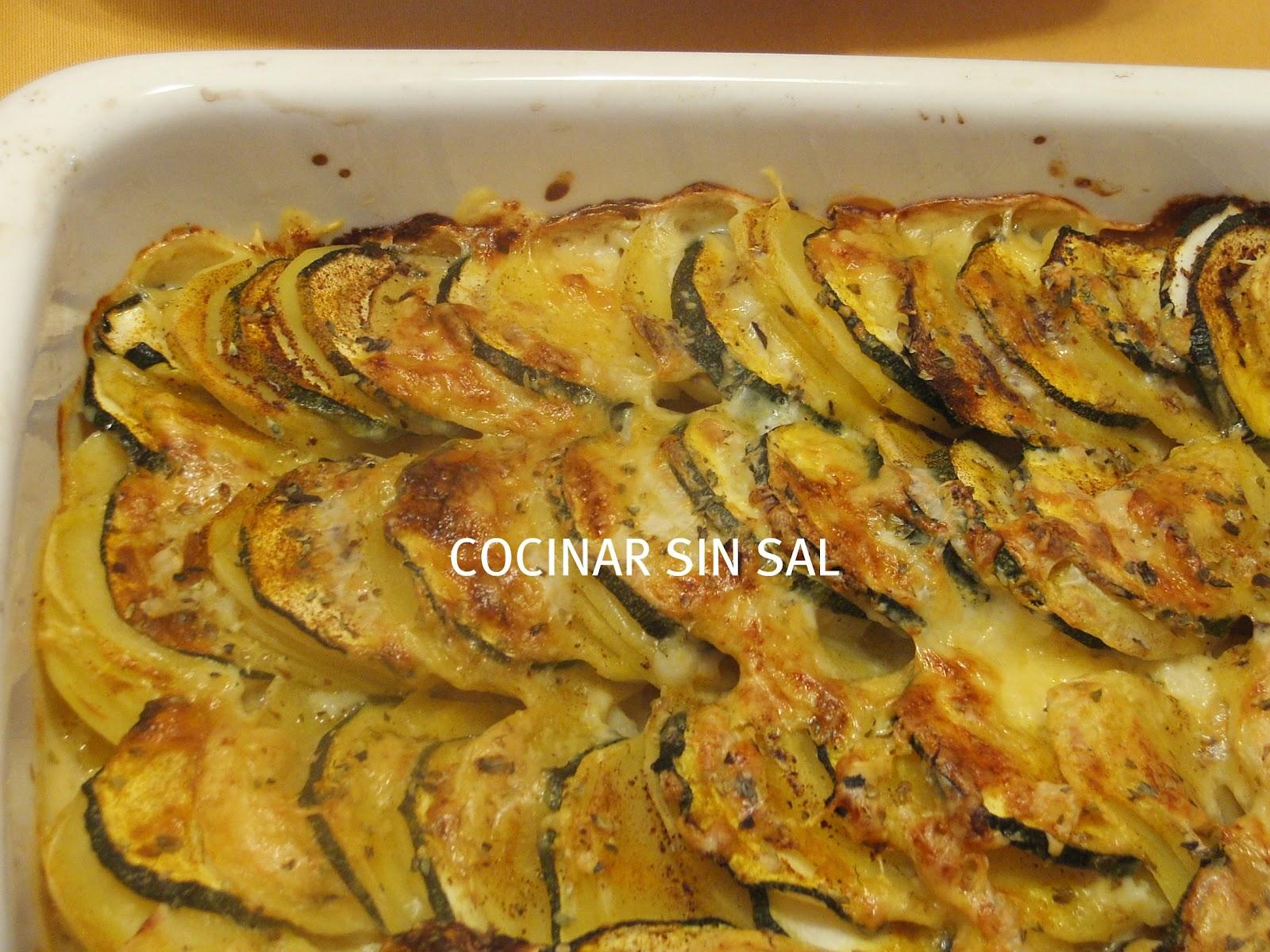 Cocinar sin sal patatas con verduras gratinadas sin sal - Cocinar sin sal ...