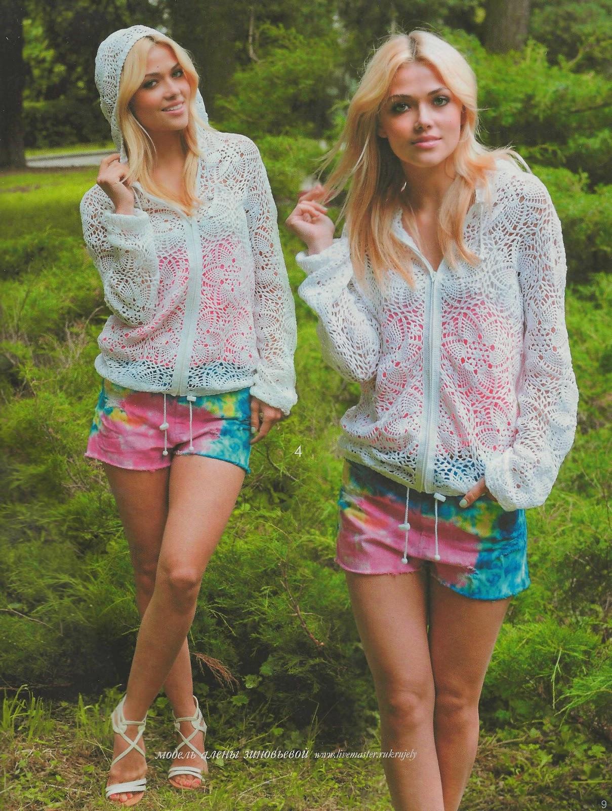 Patrón de Camperita con capucha de verano al crochet
