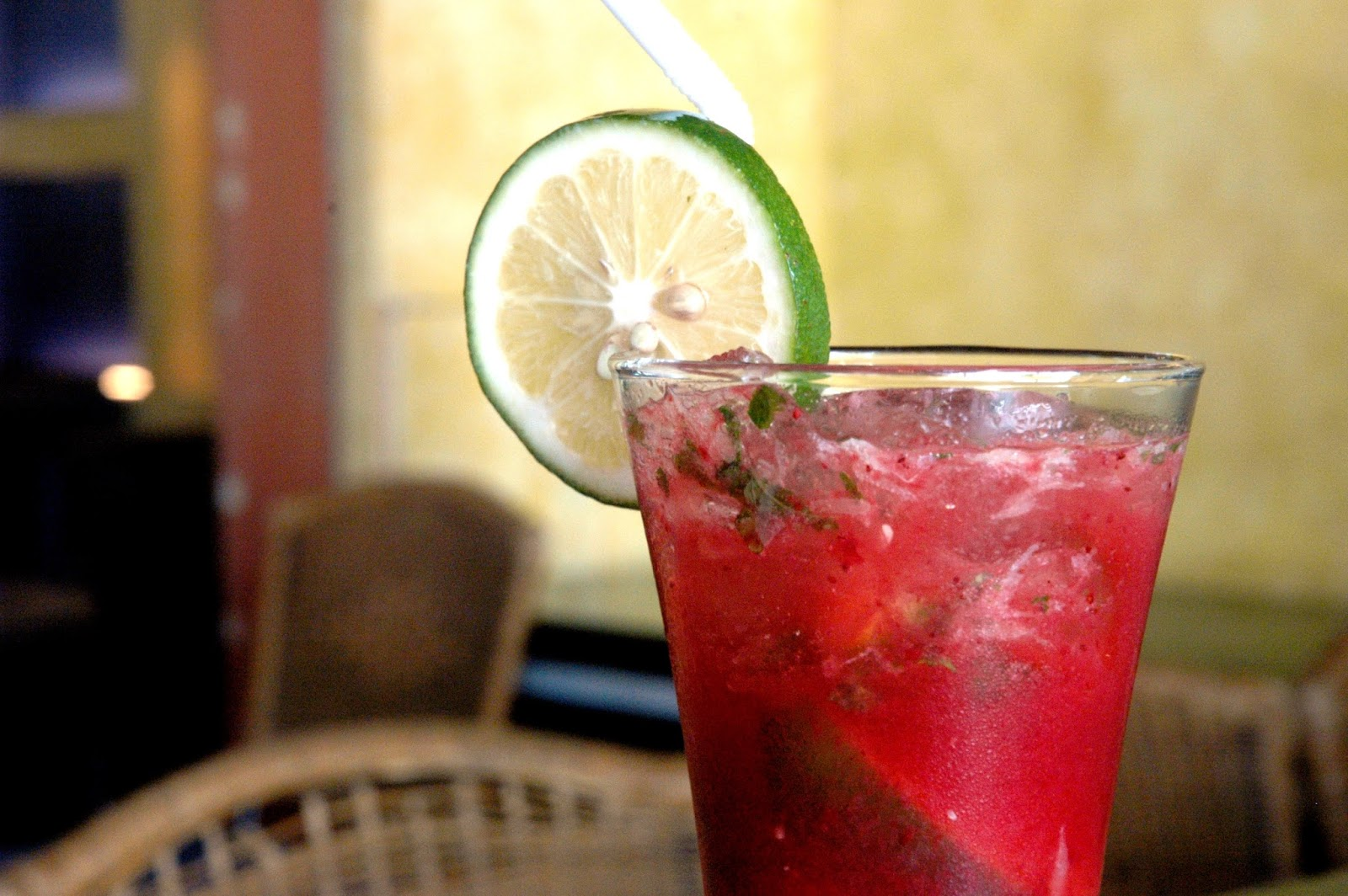 Strawberry Mojito (P 185), a refreshing fresh fruit and mojito ...