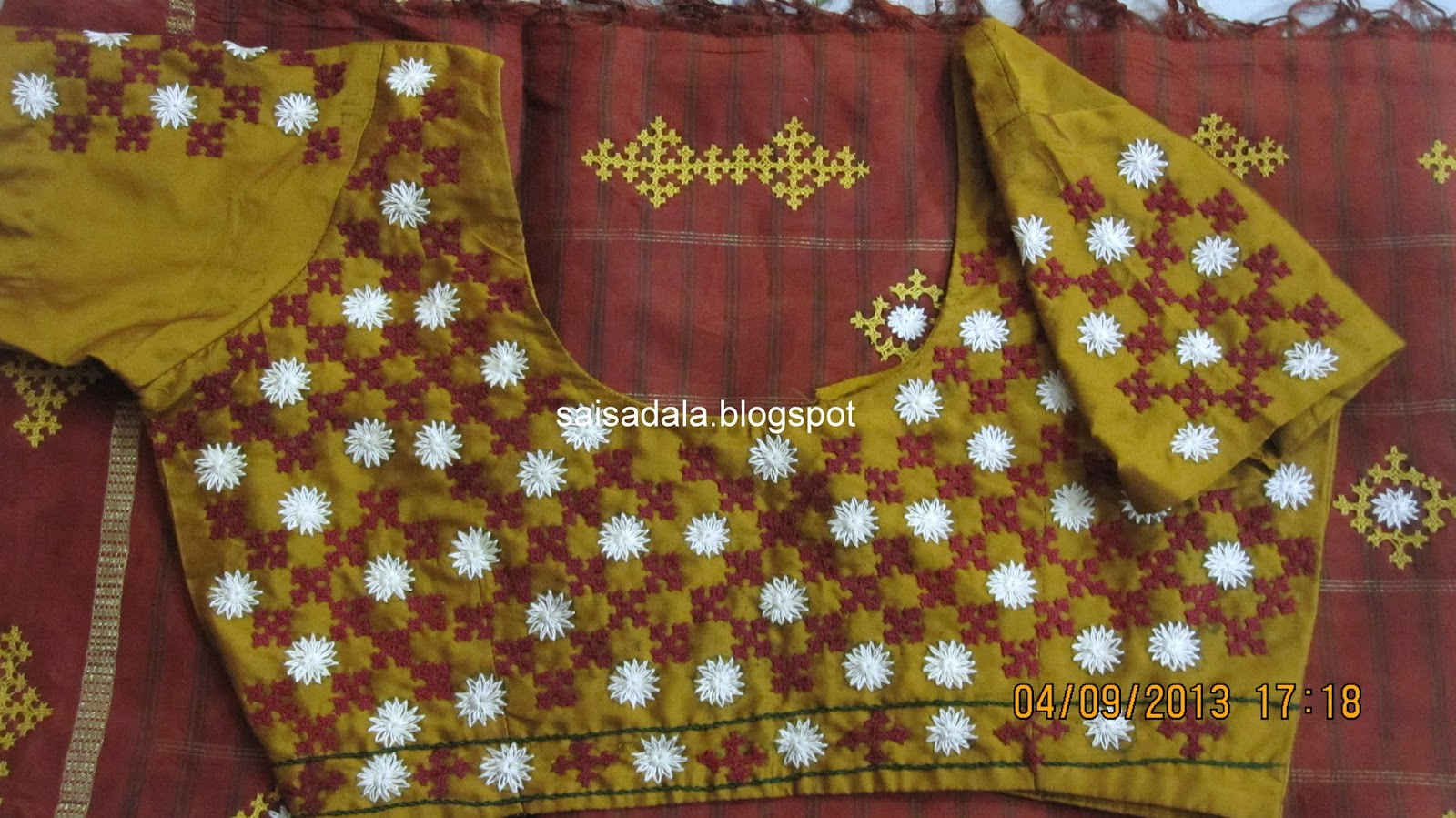 Sadalas Embroidery Kutch Work Saree Blouse