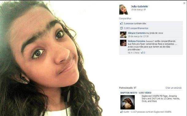 Preconceito Menina Vitima De Piadas Maldosas No Facebook