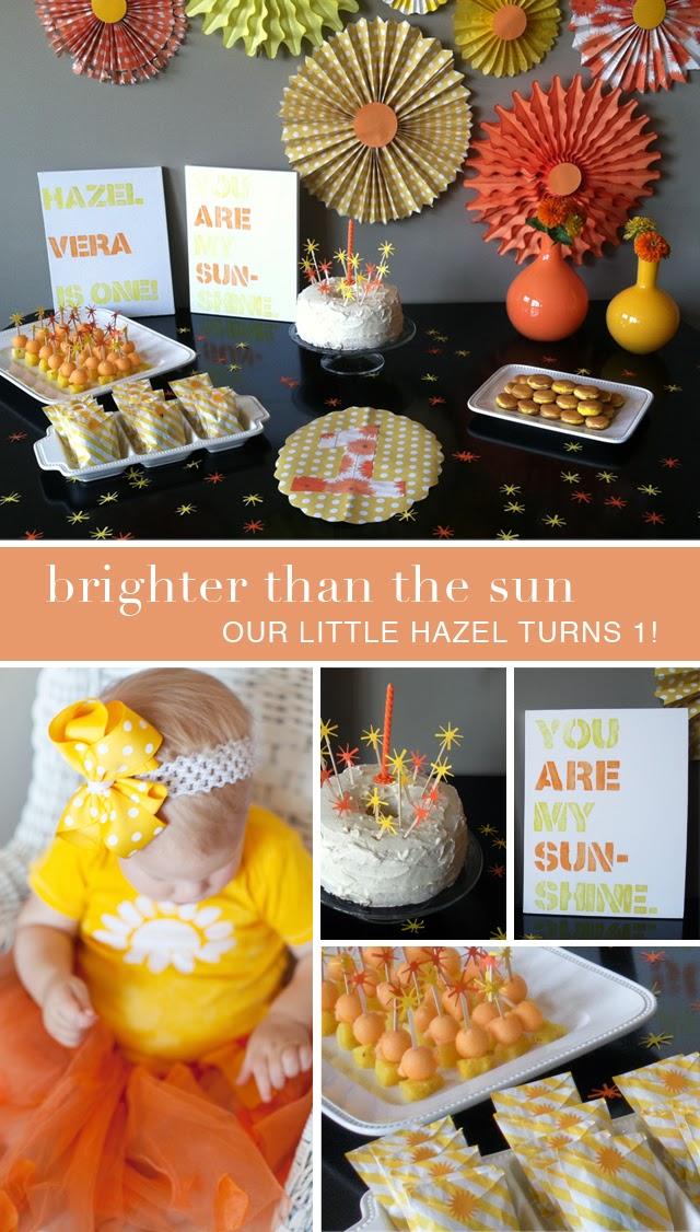 Sunshine First Birthday Party theme