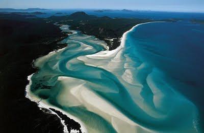 Whitehaven Beach Australia vista desde el espacio - Vistas aéreas - Aerial photos