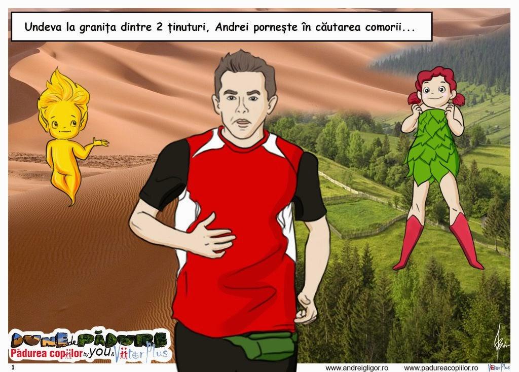 Andrei Gligor aleargă la Marathon des Sables pentru Pădurea Copiilor. Dune de Pădure. ViitorPlus