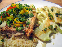 Asian Foil Salmon with Cauliflower Steaks