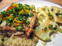 Asian Foil Salmon with Cauliflower Steaks