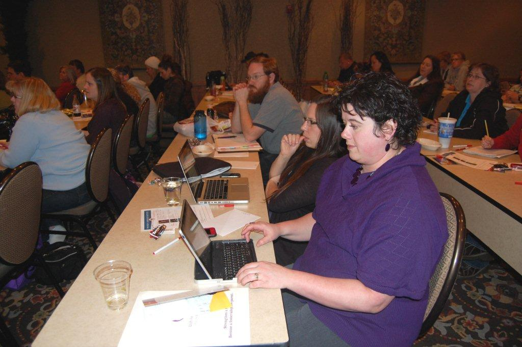 Heidi Naylor (in purple) and I were the Utah Foster Care Symposium bloggers ...