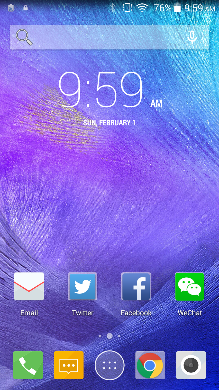 Cherry Mobile Cosmos One Plus Homescreen