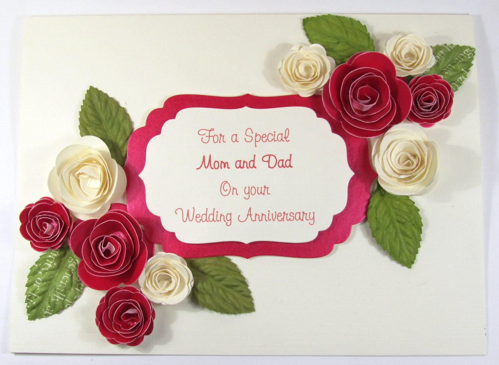 3d Card Making Ideas Part - 17: Ruby Wedding Anniversary Card Idea :: 3D Roses