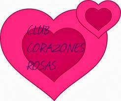 Club de los corazones rosas en un jarrón de flores