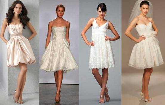 Short wedding dresses are more suitable for petite brides as it flatters her