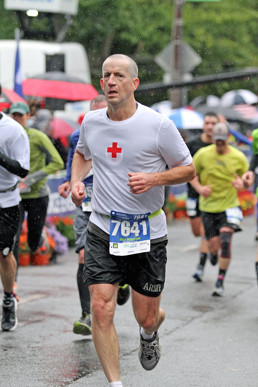 American Red Cross Volunteer runs to raise funds for the American Red Cross