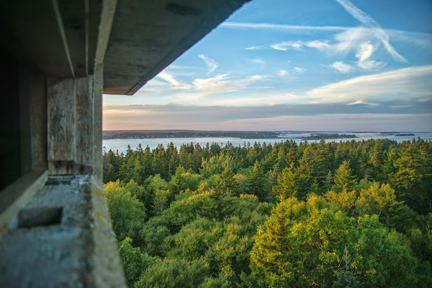 Jewell Island Portland, Maine Casco Bay New England Observation Tower photo by Corey Templeton August 2014 Summer
