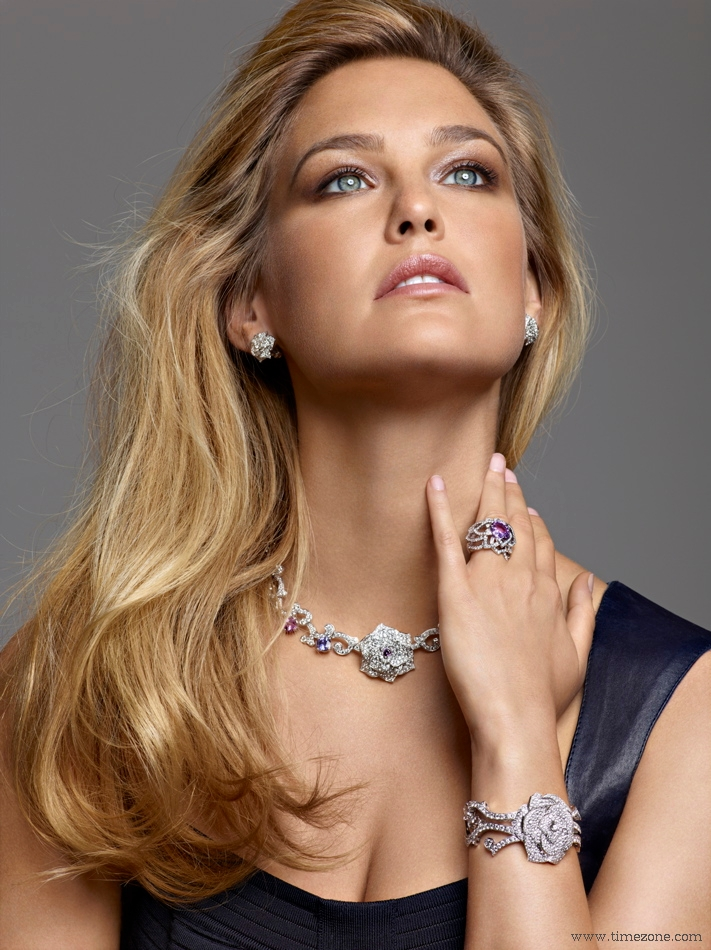Bar Refaeli Is The New Face Of Piaget S Rose Collection Launched Just In Time For Spring Supermodel Photographed Wearing Secret Watches Bracelets