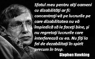 Maxima zilei: 3 decembrie 2015 | Stephen Hawking despre dizabilităţi