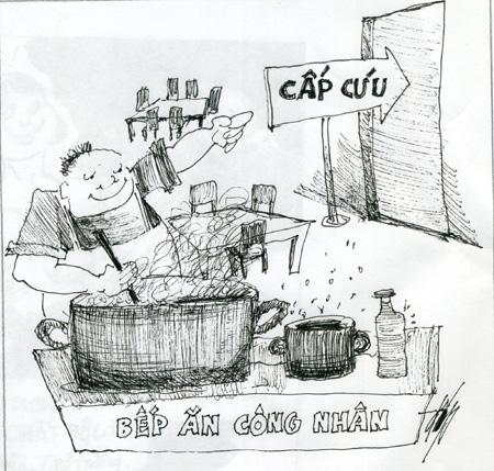 Tranh biếm họa về an toàn thực phẩm