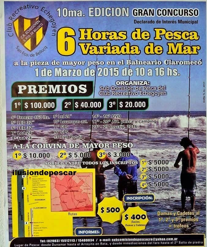 Concurso de Pesca en Claromeco