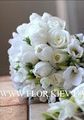 Свадебный букет с весенними цветами