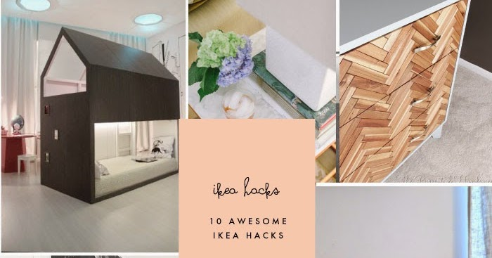 10 awesome ikea hacks to try poppytalk. Black Bedroom Furniture Sets. Home Design Ideas